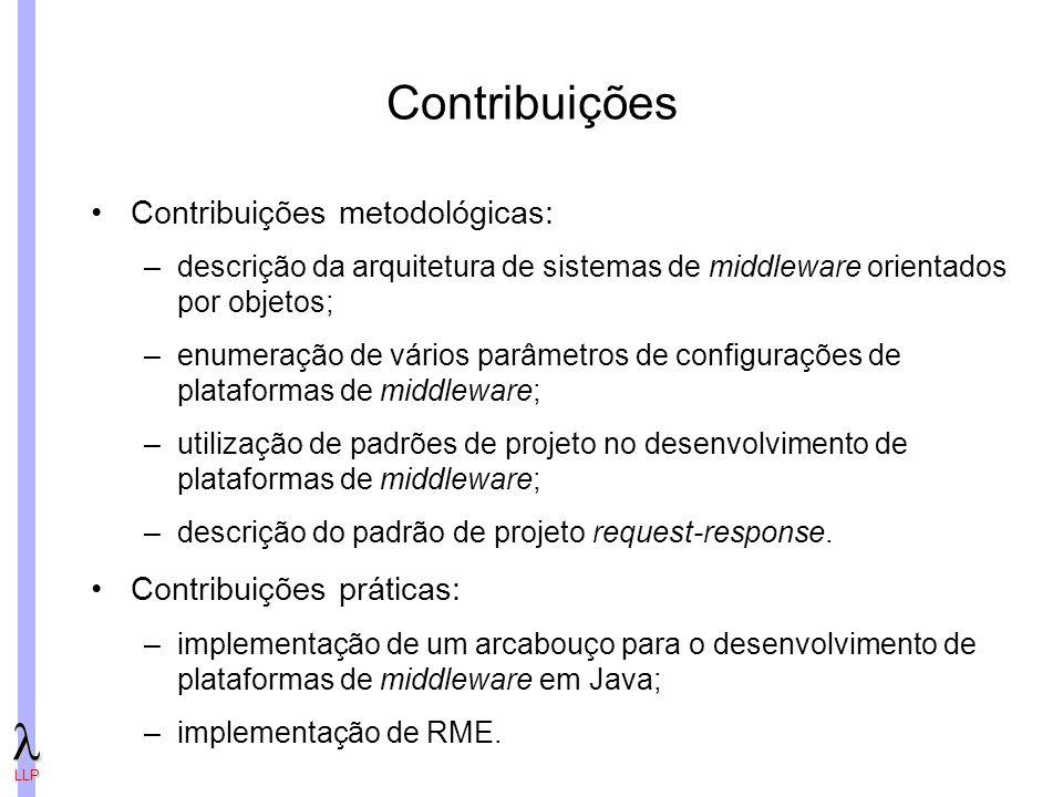 Contribuições Contribuições metodológicas: Contribuições práticas: