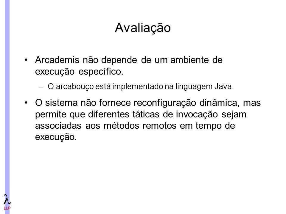 Avaliação Arcademis não depende de um ambiente de execução específico.