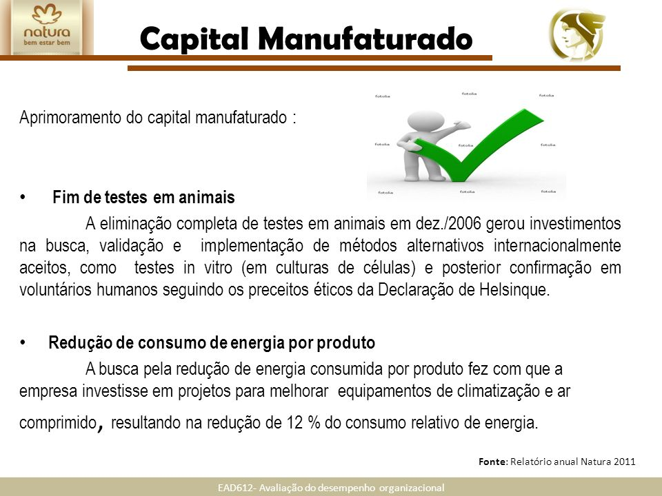 Capital Manufaturado Aprimoramento do capital manufaturado :