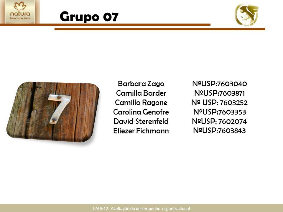 Grupo 07 Barbara Zago NºUSP:7603040 NºUSP:7603871 Camilla Barder