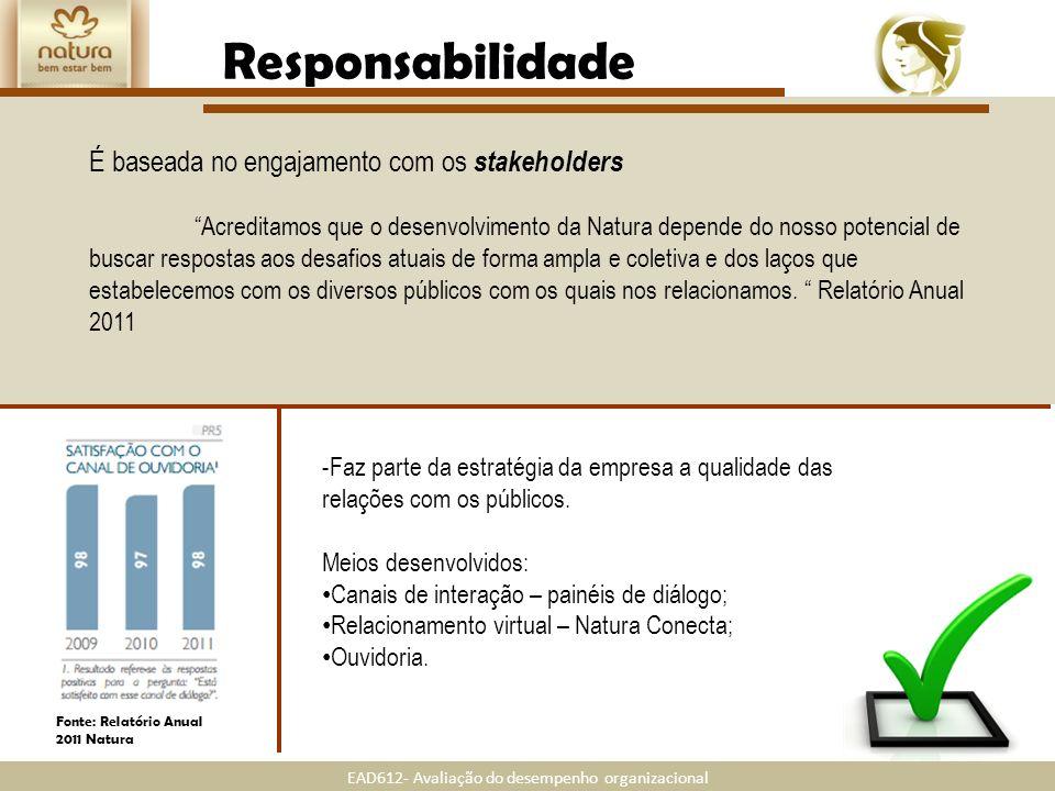 Responsabilidade É baseada no engajamento com os stakeholders