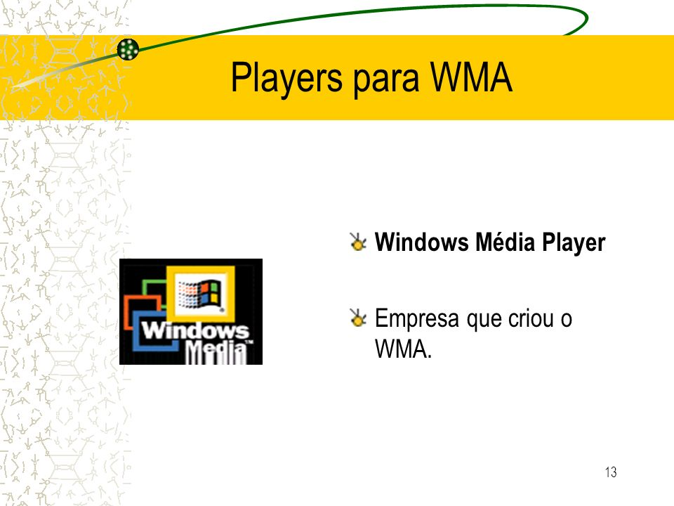Players para WMA Windows Média Player Empresa que criou o WMA.