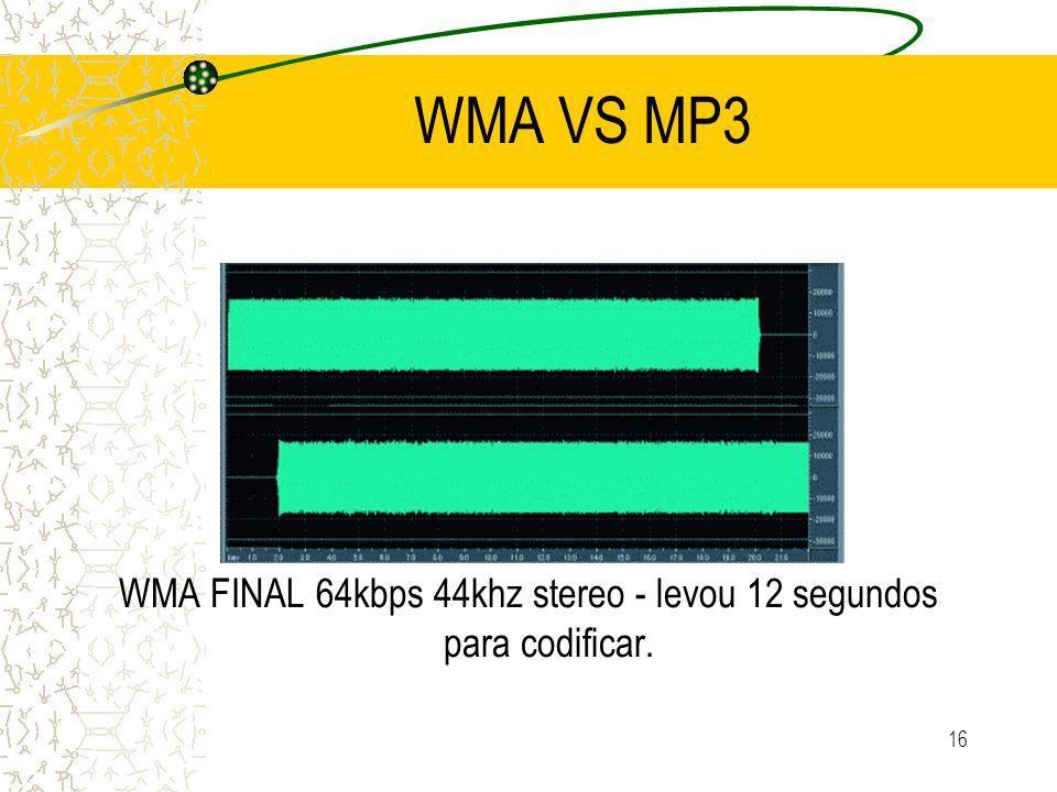 WMA FINAL 64kbps 44khz stereo - levou 12 segundos para codificar.