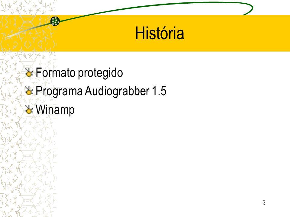 História Formato protegido Programa Audiograbber 1.5 Winamp