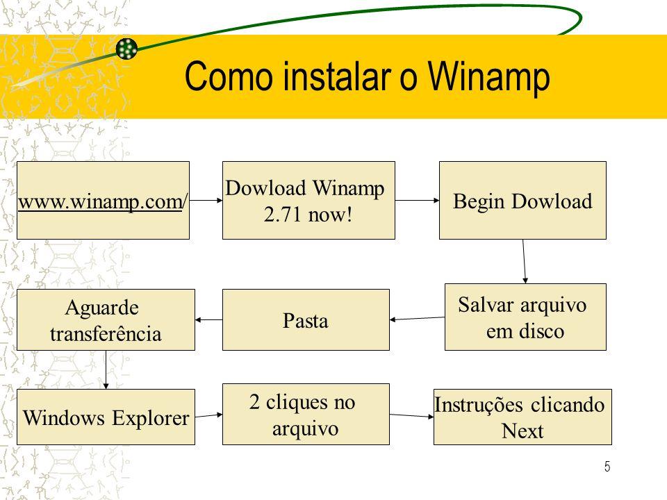 Como instalar o Winamp www.winamp.com/ Dowload Winamp 2.71 now!