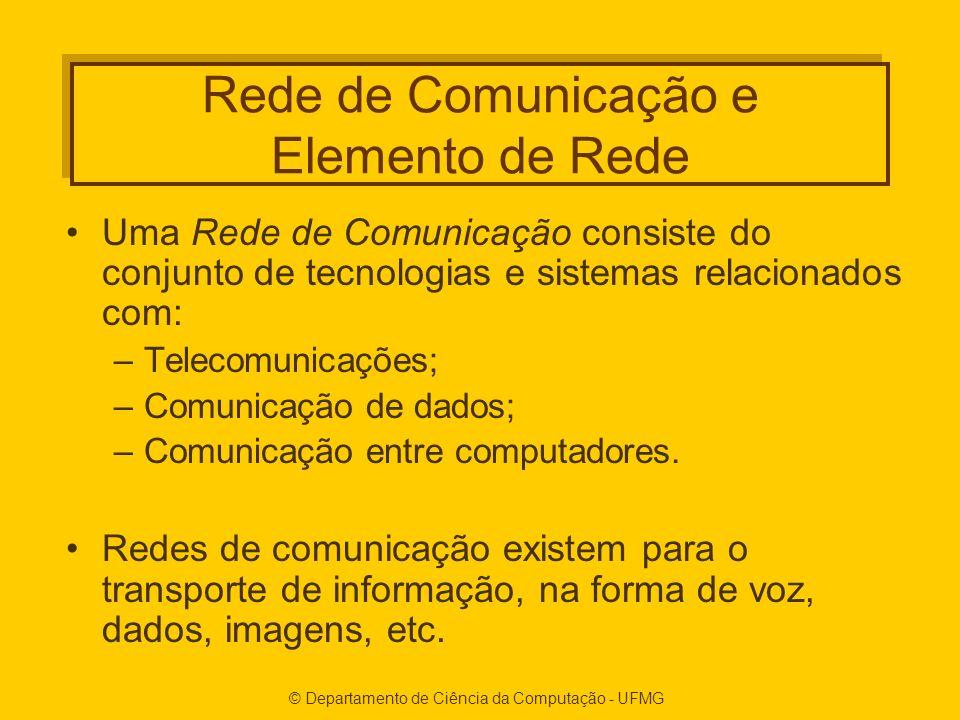 Rede de Comunicação e Elemento de Rede