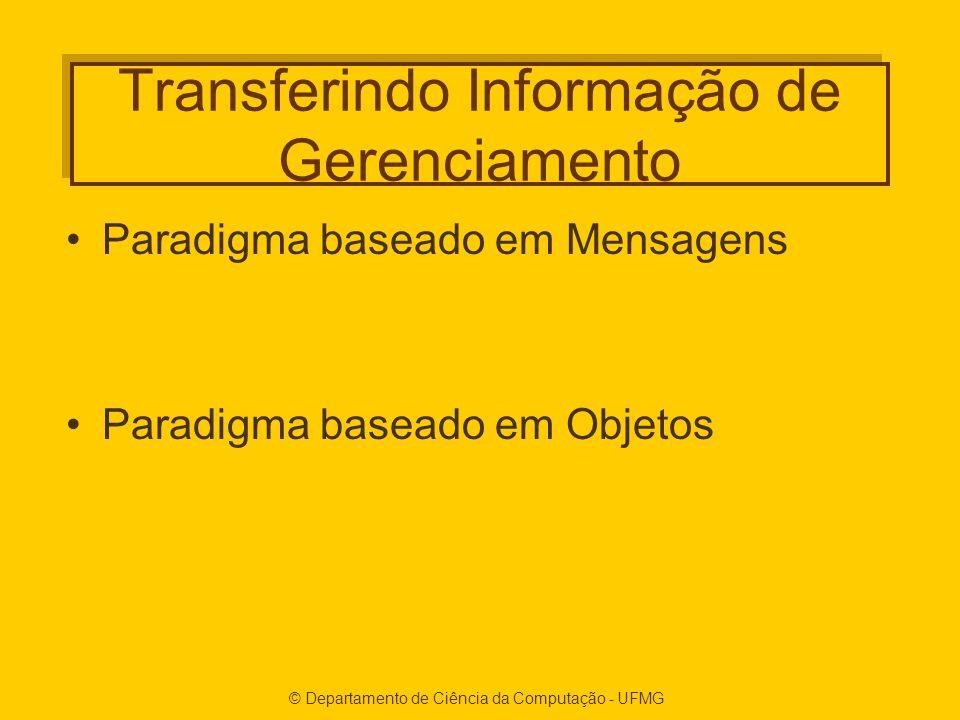 Transferindo Informação de Gerenciamento