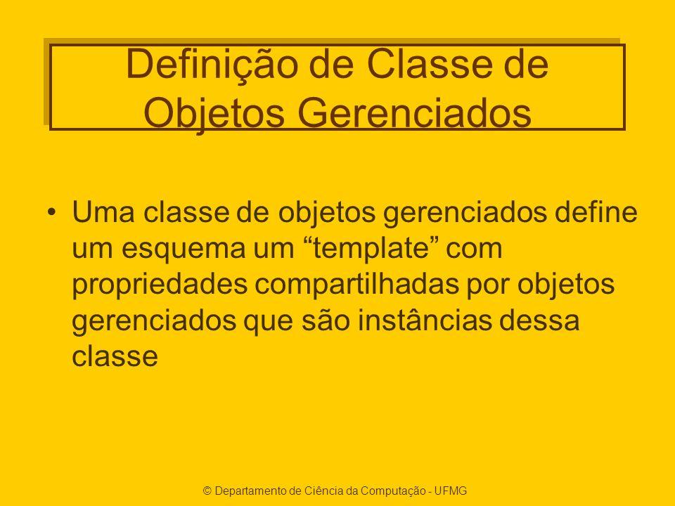 Definição de Classe de Objetos Gerenciados