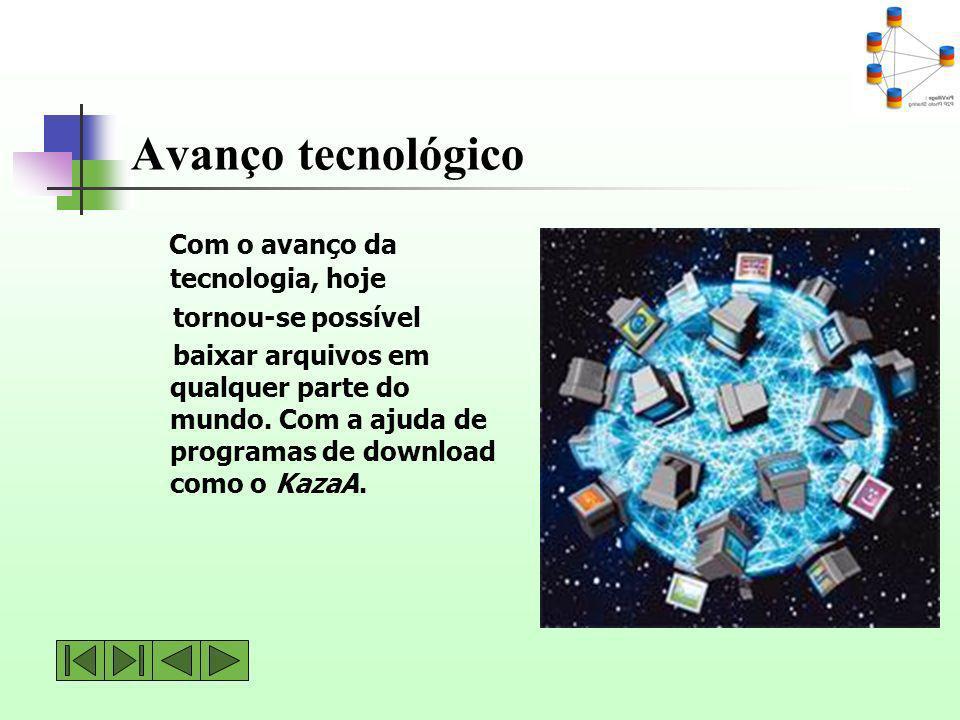 Avanço tecnológico Com o avanço da tecnologia, hoje tornou-se possível
