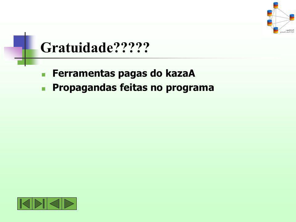 Gratuidade Ferramentas pagas do kazaA