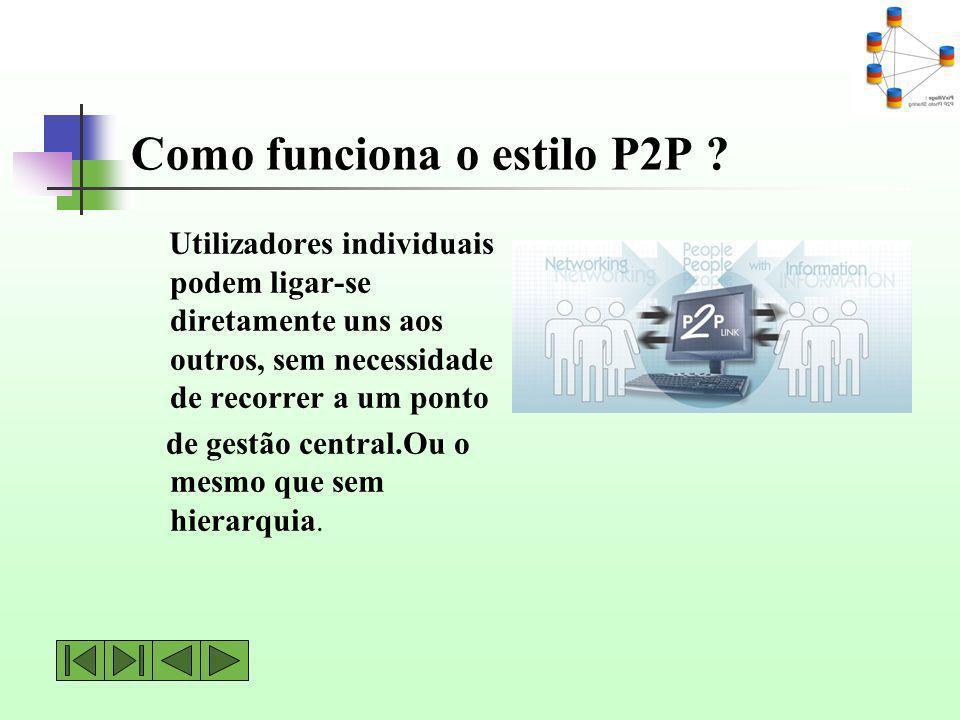 Como funciona o estilo P2P
