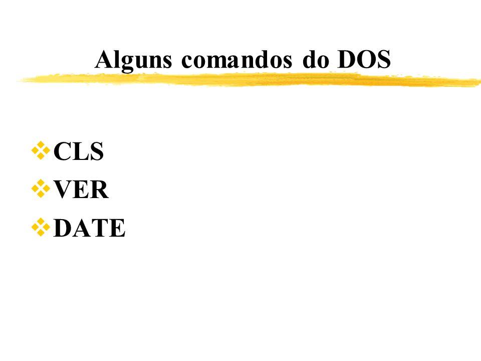 Alguns comandos do DOS CLS VER DATE