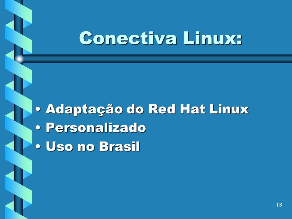 Conectiva Linux: Adaptação do Red Hat Linux Personalizado