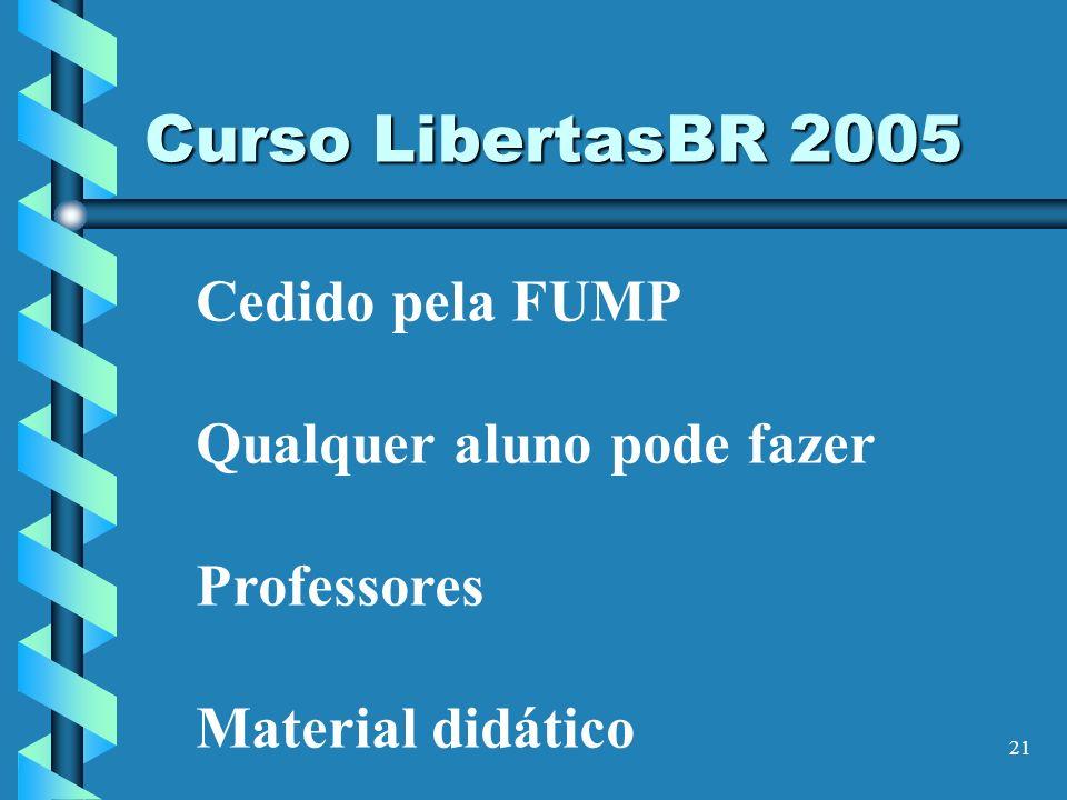 Curso LibertasBR 2005 Cedido pela FUMP Qualquer aluno pode fazer