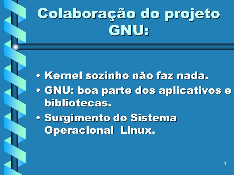 Colaboração do projeto GNU: