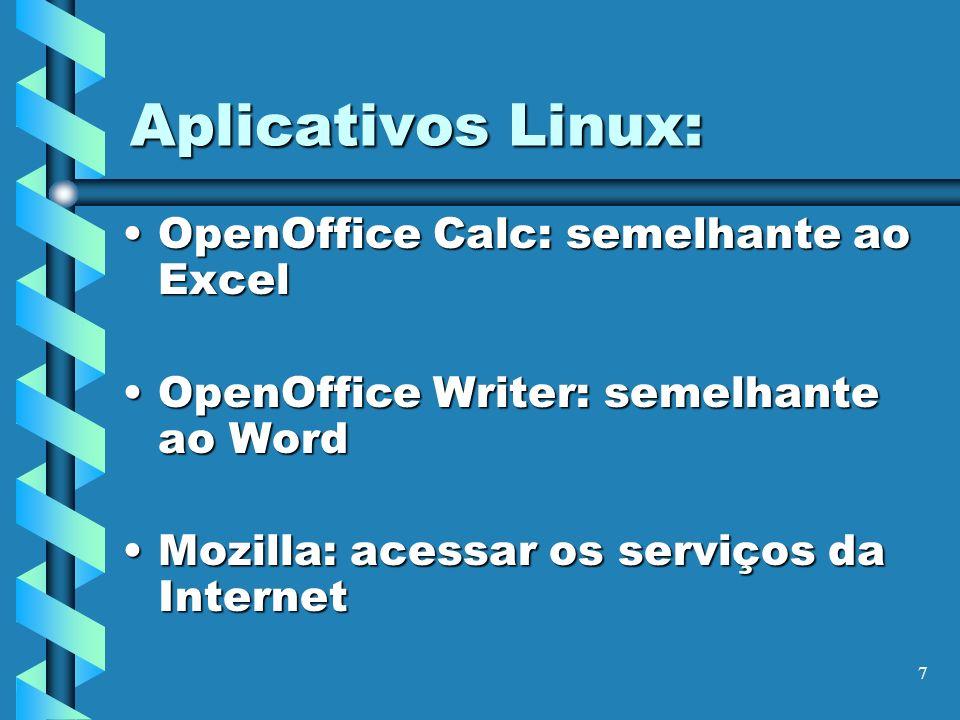 Aplicativos Linux: OpenOffice Calc: semelhante ao Excel