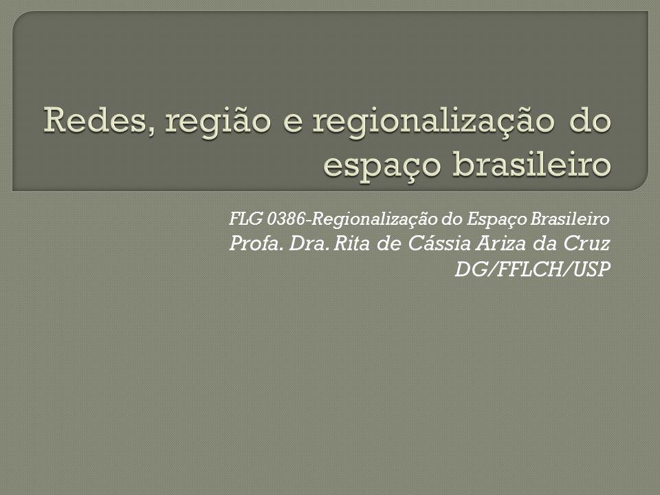 Redes, região e regionalização do espaço brasileiro