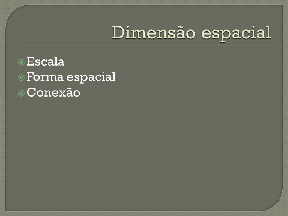 Dimensão espacial Escala Forma espacial Conexão
