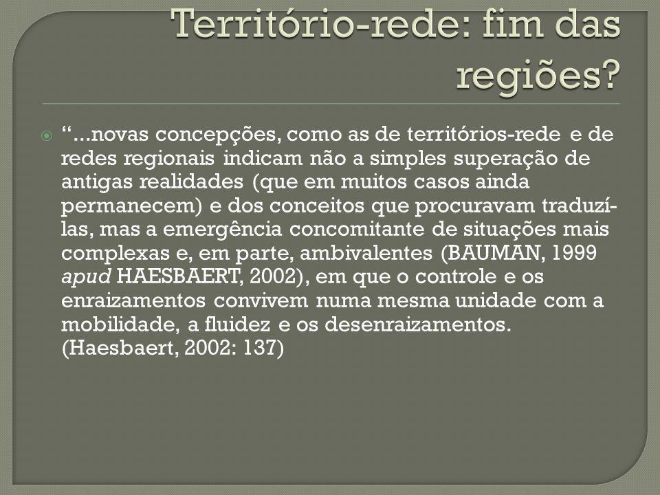 Território-rede: fim das regiões