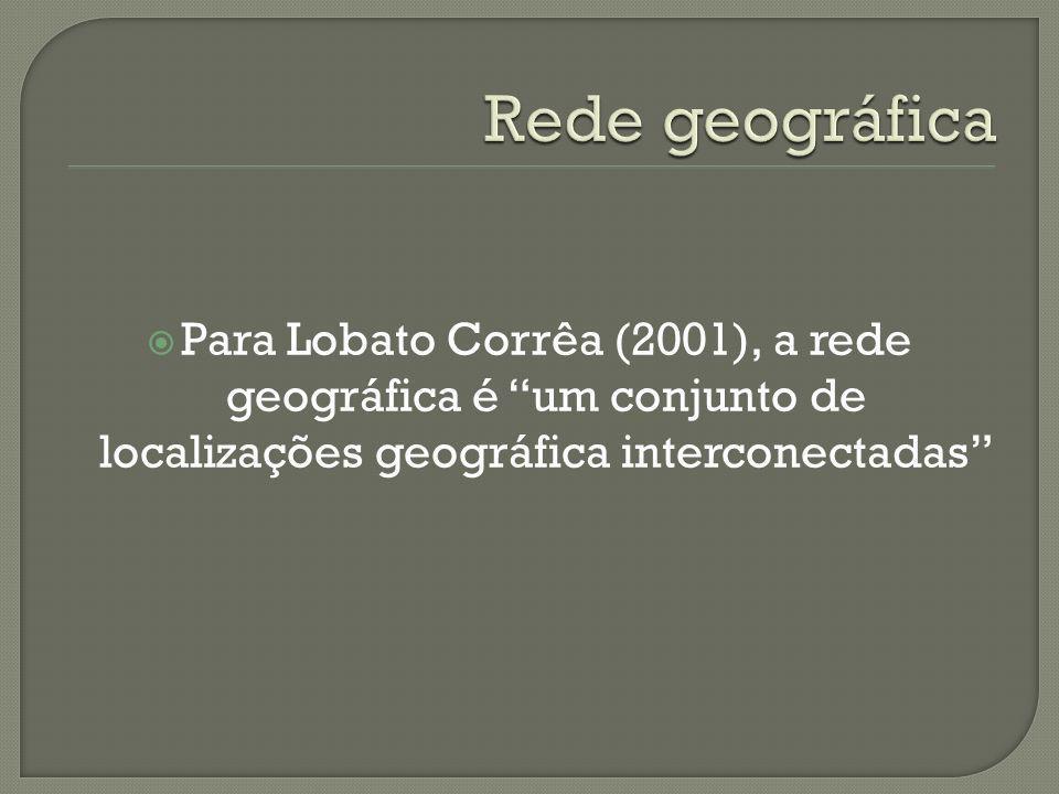 Rede geográfica Para Lobato Corrêa (2001), a rede geográfica é um conjunto de localizações geográfica interconectadas