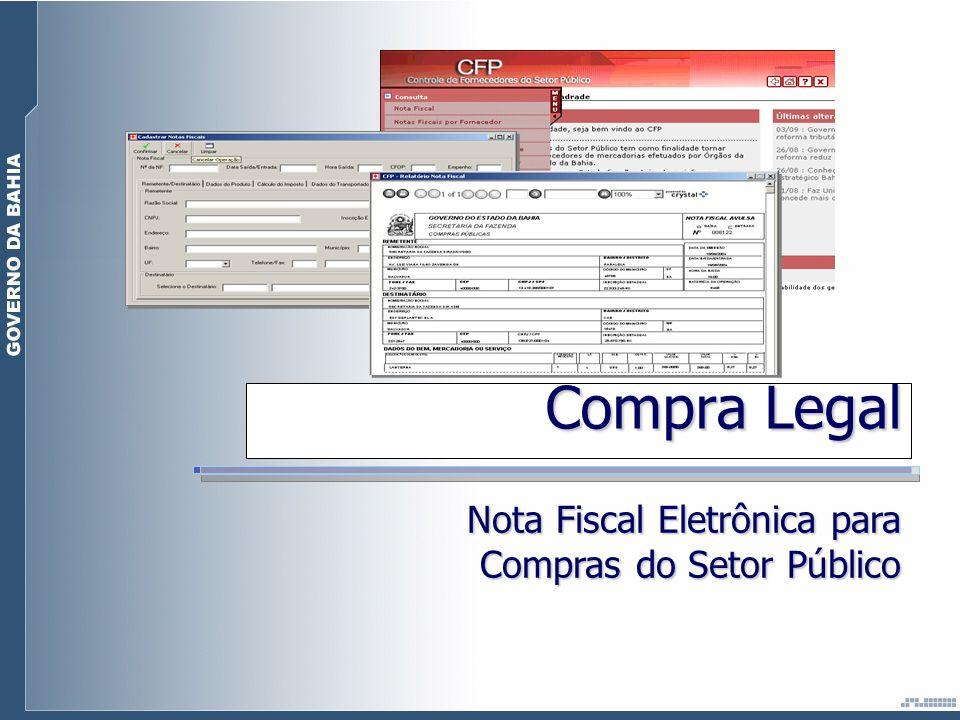 Compra Legal Nota Fiscal Eletrônica para Compras do Setor Público