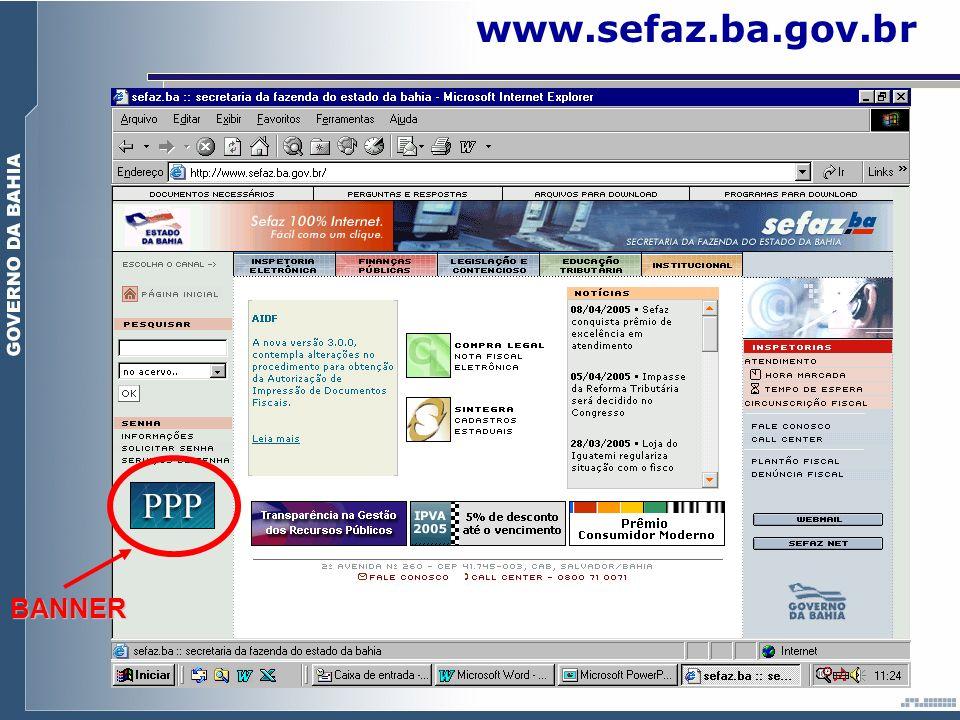 www.sefaz.ba.gov.br BANNER