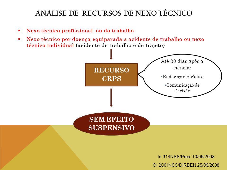 Analise de Recursos de Nexo Técnico