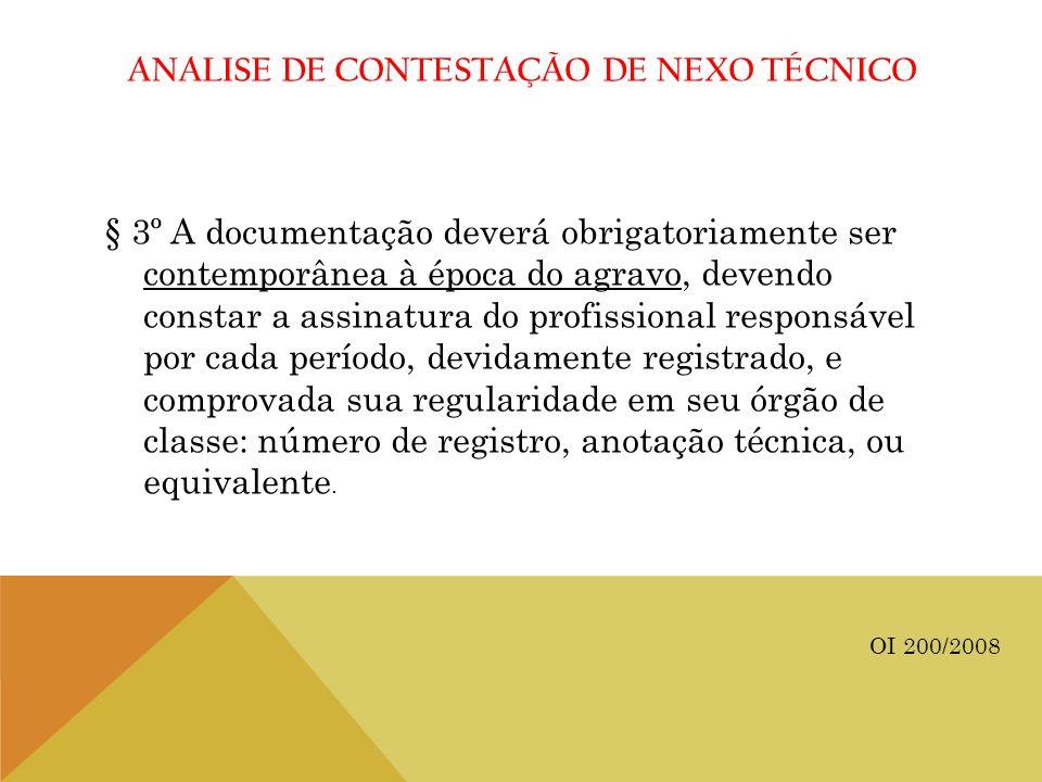 ANALISE DE CONTESTAÇÃO DE NEXO TÉCNICO