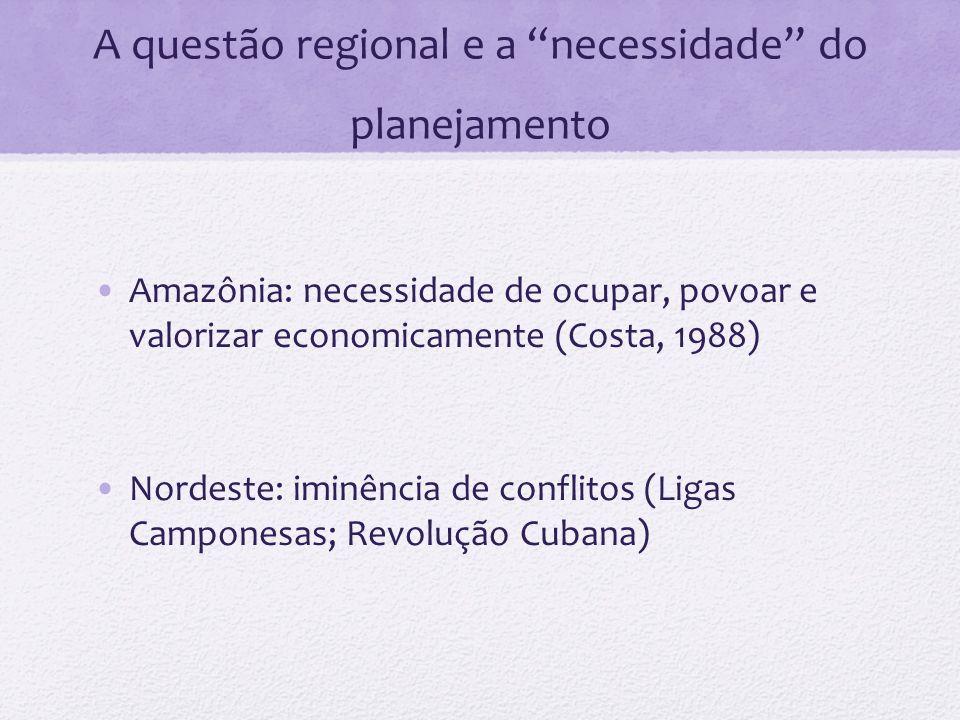 A questão regional e a necessidade do planejamento