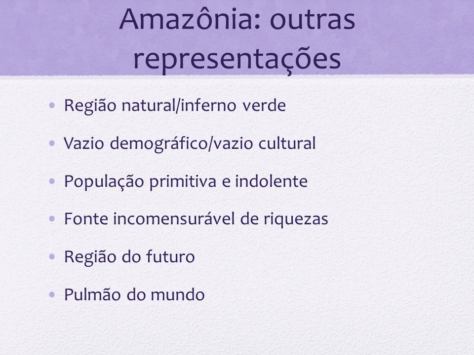 Amazônia: outras representações