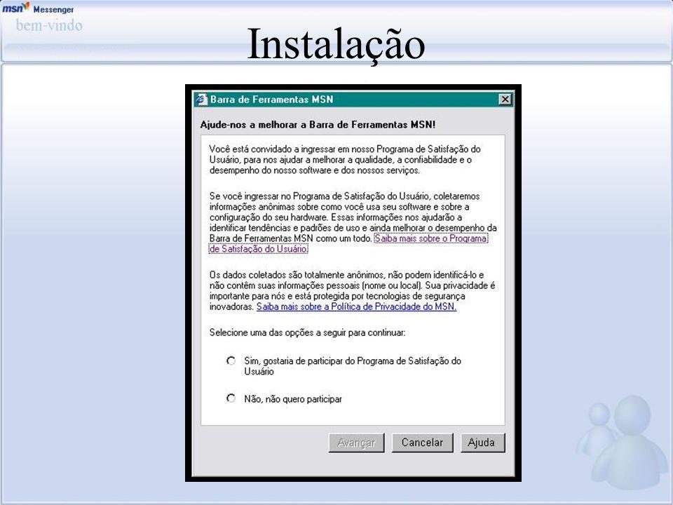Instalação Esse é o programa de satisfação do usuário que a microsoft disponibiliza com o intuito de saber a opinião do usuário.