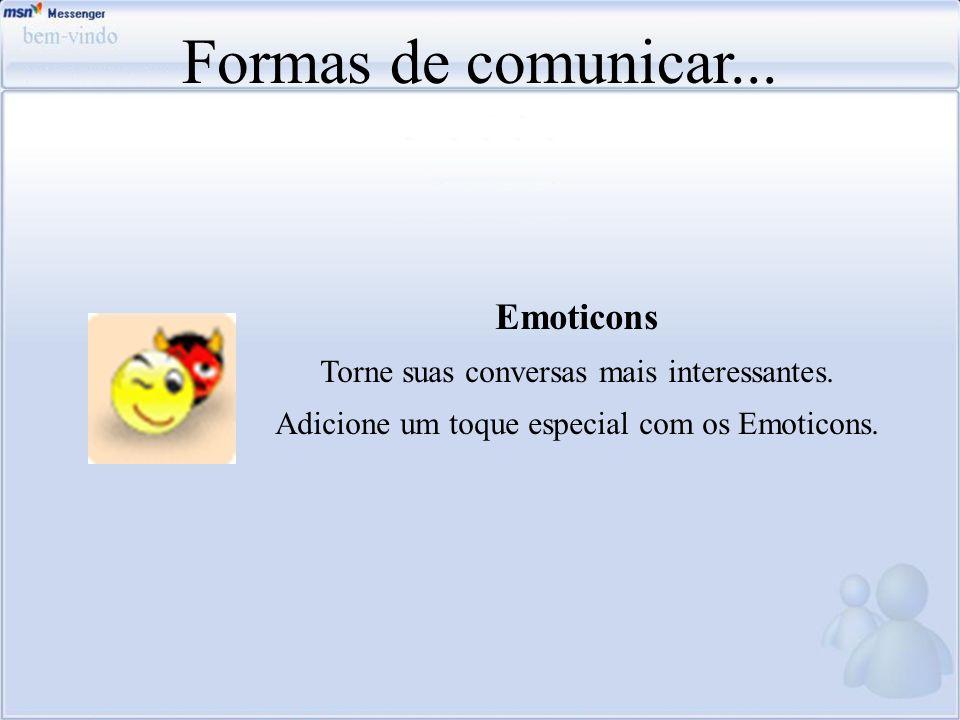 Formas de comunicar... Emoticons