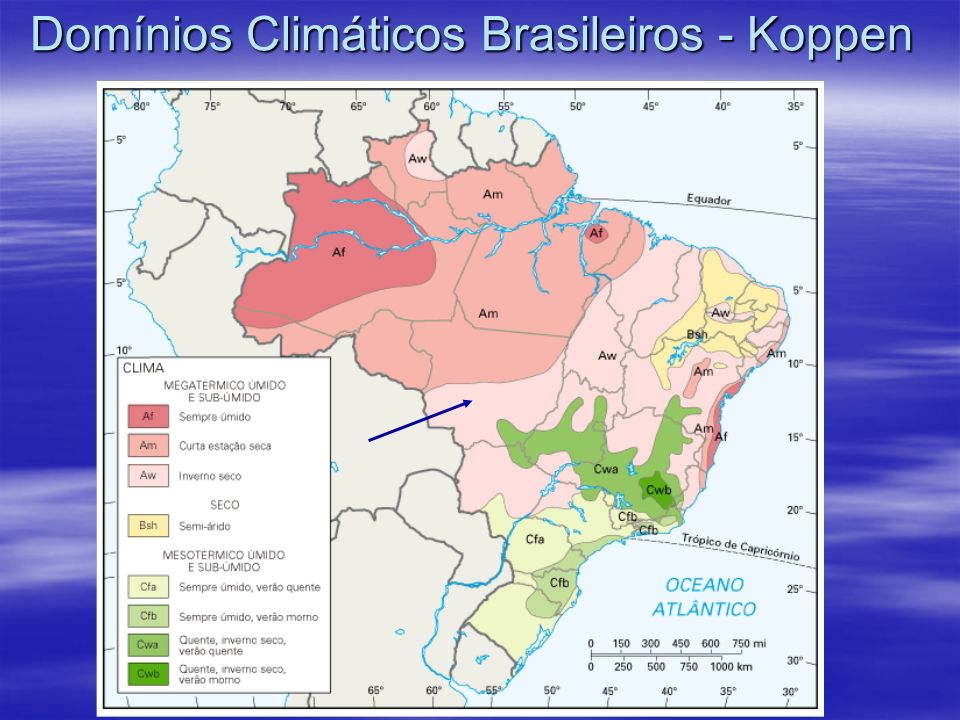 Domínios Climáticos Brasileiros - Koppen