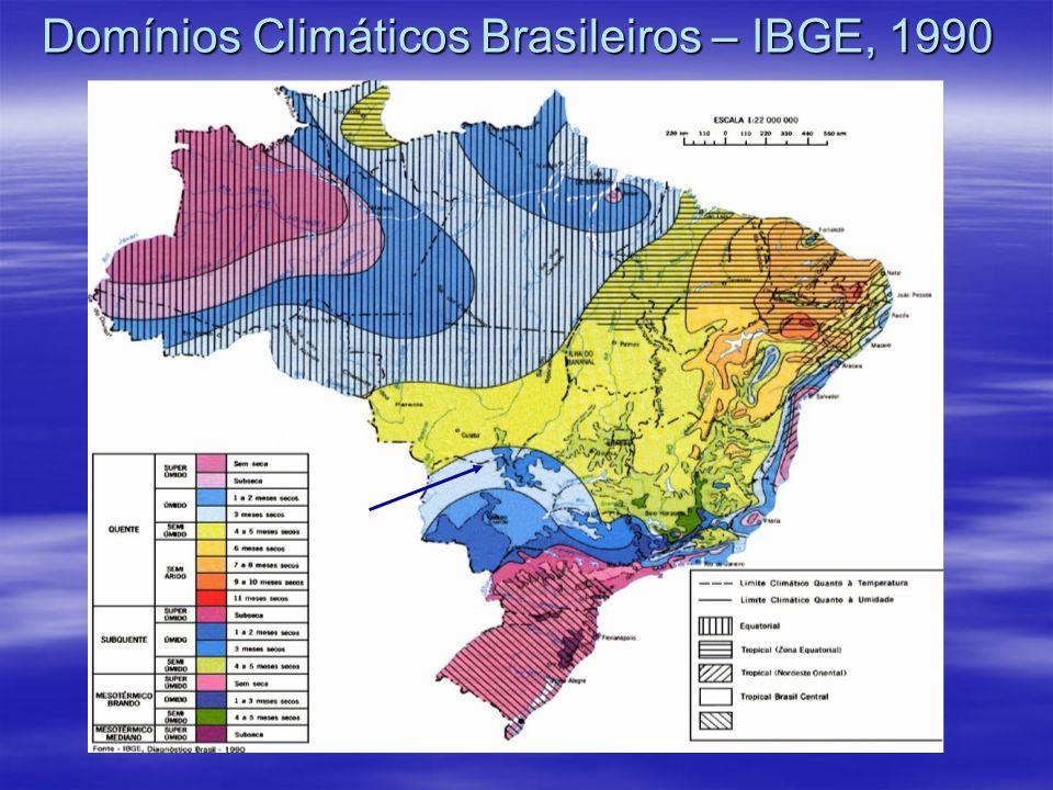 Domínios Climáticos Brasileiros – IBGE, 1990