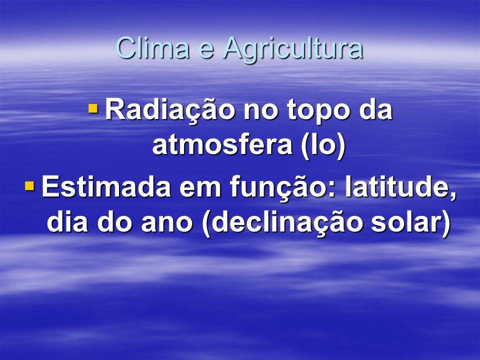 Radiação no topo da atmosfera (Io)
