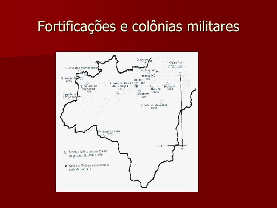 Fortificações e colônias militares