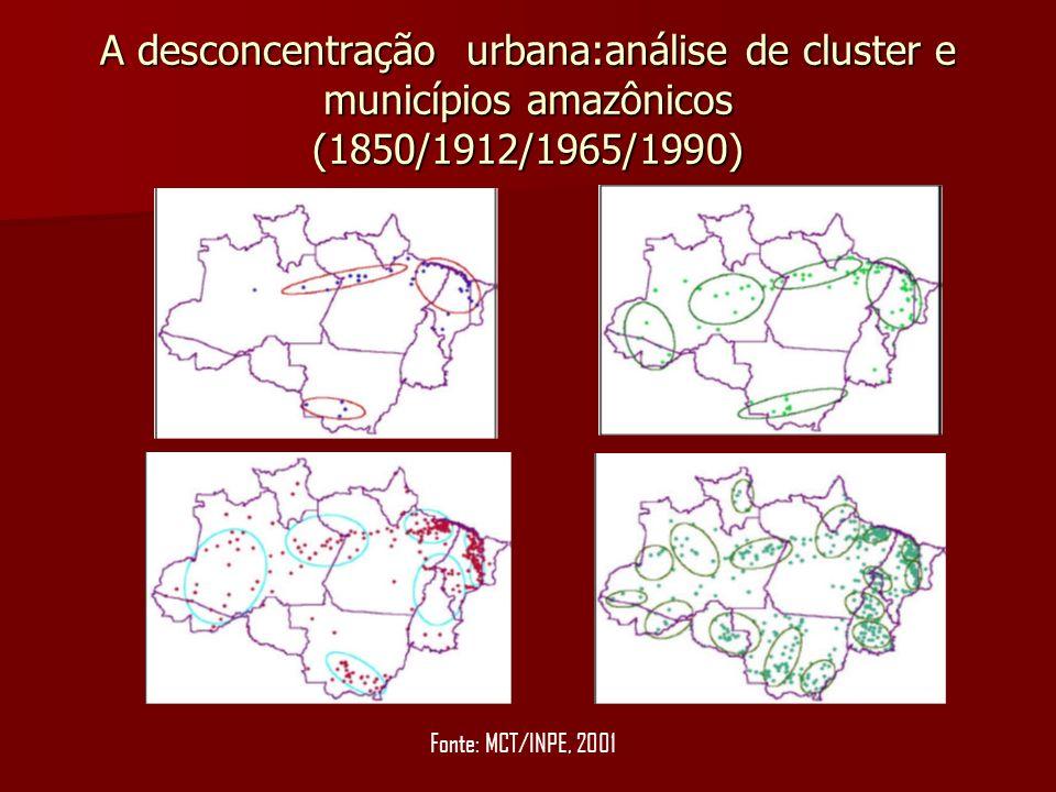 A desconcentração urbana:análise de cluster e municípios amazônicos (1850/1912/1965/1990)