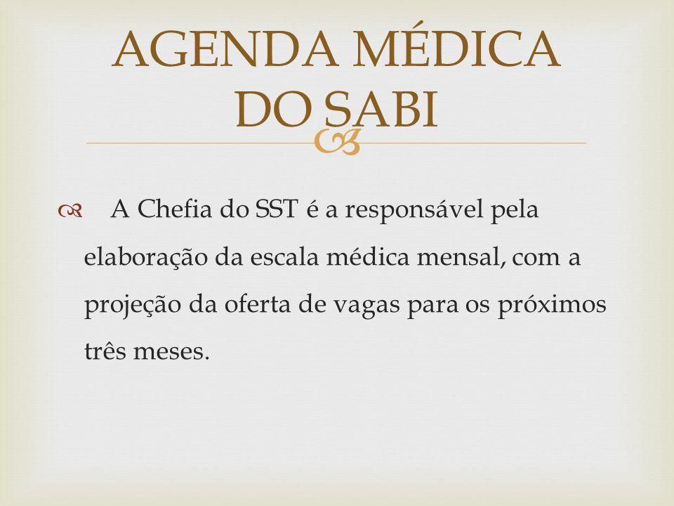 AGENDA MÉDICA DO SABI