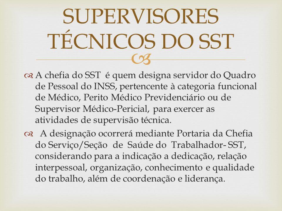 SUPERVISORES TÉCNICOS DO SST