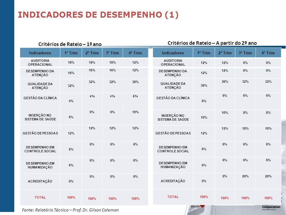 INDICADORES DE DESEMPENHO (1)