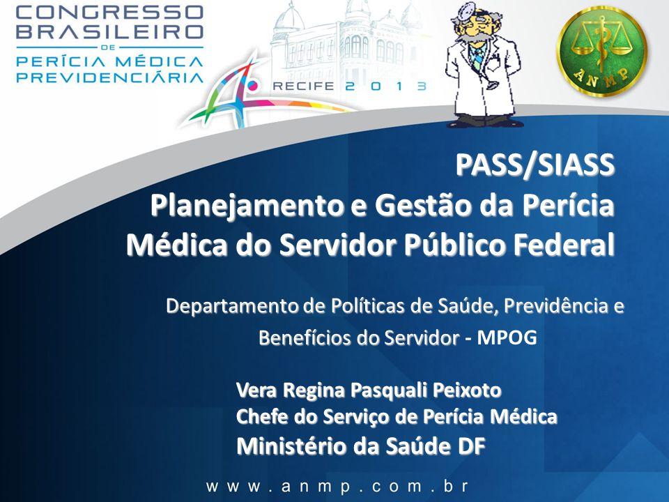 PASS/SIASS Planejamento e Gestão da Perícia Médica do Servidor Público Federal