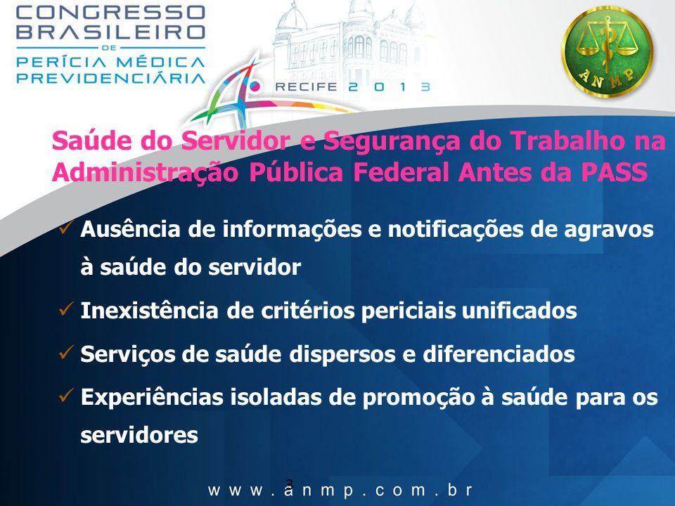 Saúde do Servidor e Segurança do Trabalho na Administração Pública Federal Antes da PASS