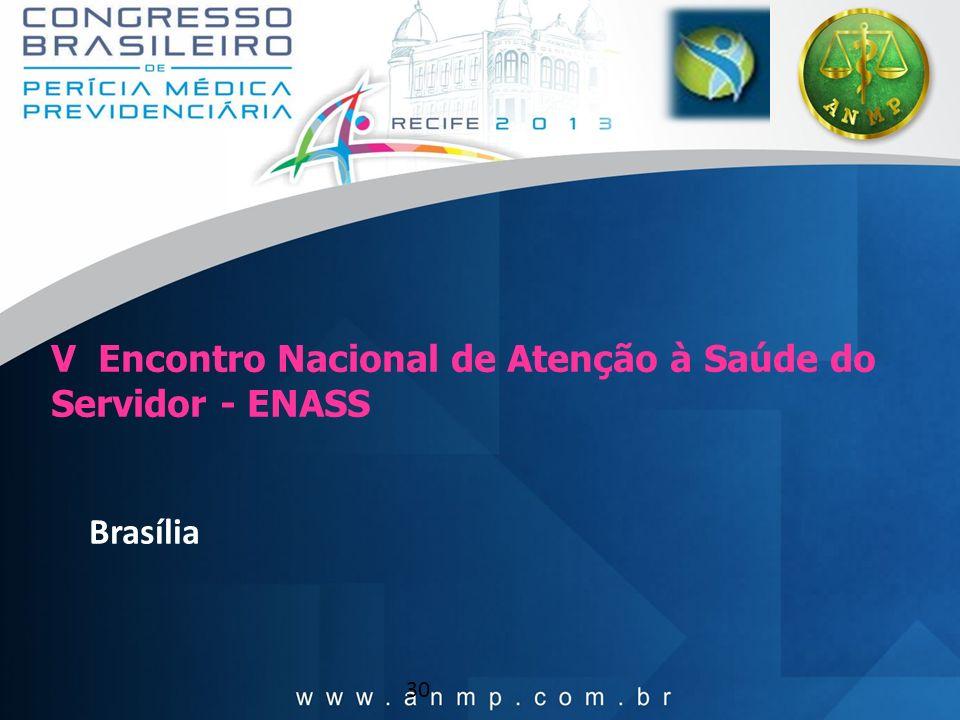 V Encontro Nacional de Atenção à Saúde do Servidor - ENASS