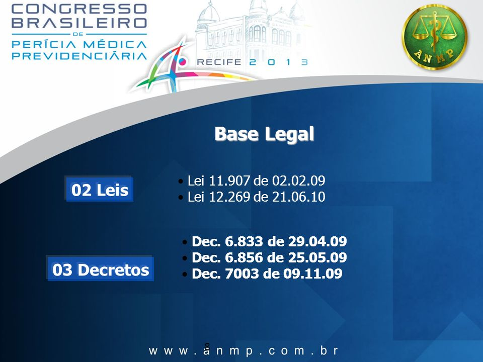 Base Legal 02 Leis 03 Decretos Lei 11.907 de 02.02.09
