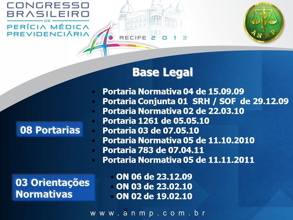 Base Legal 08 Portarias 03 Orientações Normativas