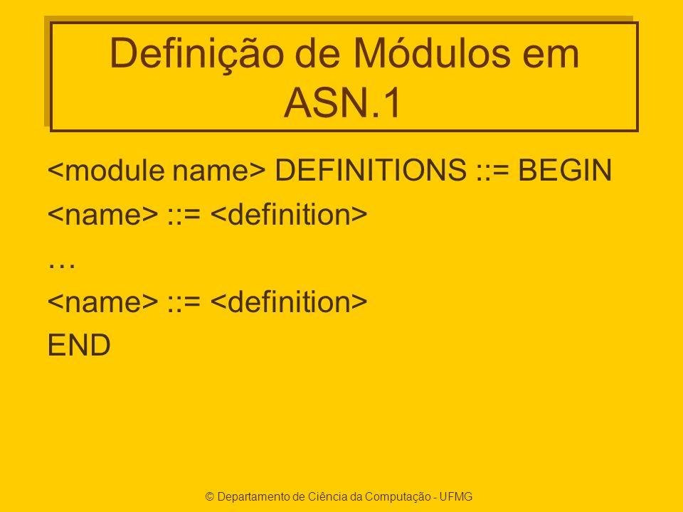 Definição de Módulos em ASN.1