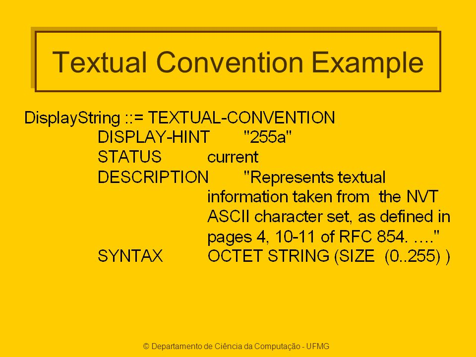 Textual Convention Example