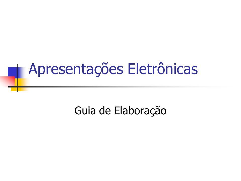 Apresentações Eletrônicas