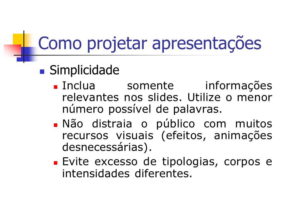 Como projetar apresentações
