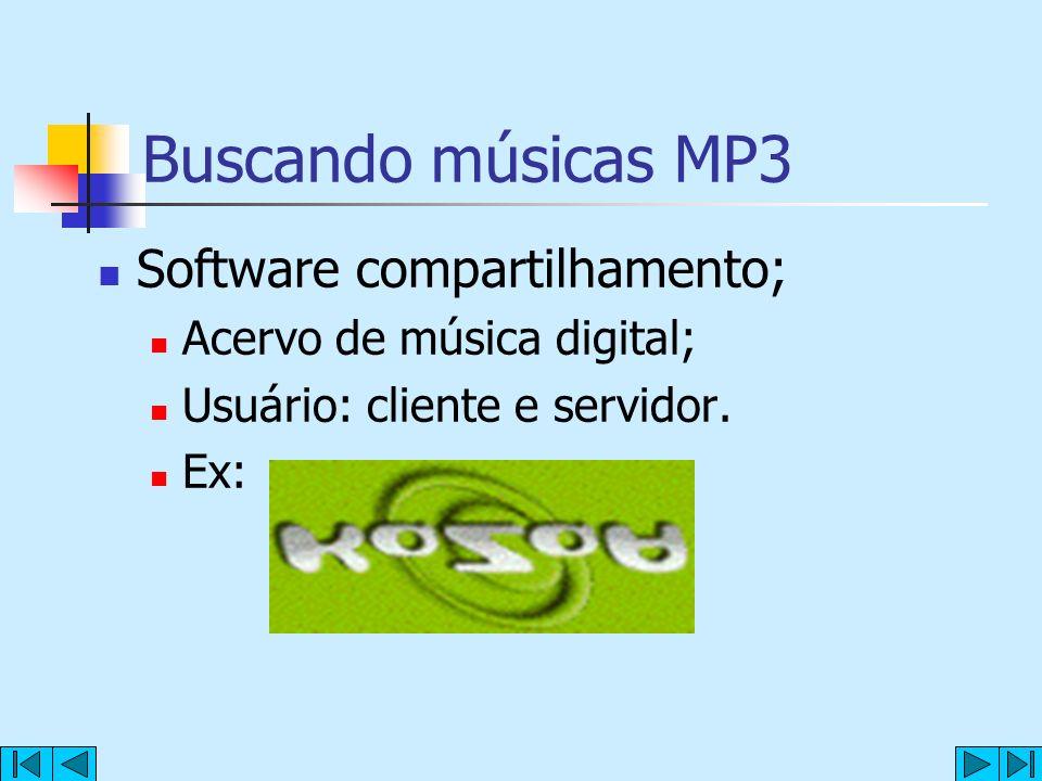 Buscando músicas MP3 Software compartilhamento;
